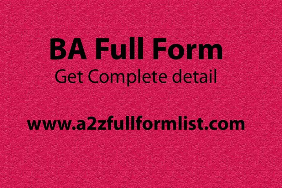 MA full form, BA full form in hindi, BA full form in english, BBA full form, BSC full form, BA full form in chemistry, B.com full form, BA full form in commerce,