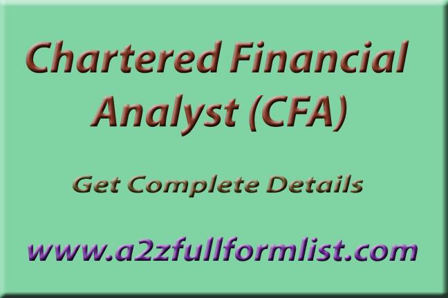 CFA Full Form