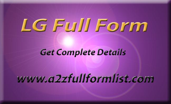 LG Full Form