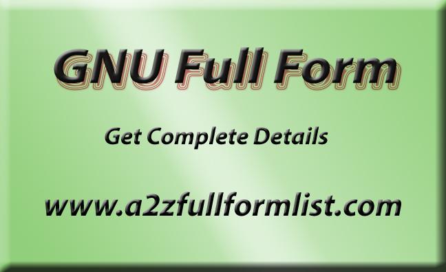 GNU Full Form