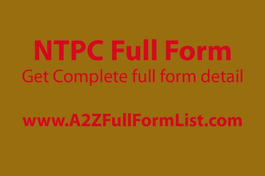 RRB NTPC Full Form